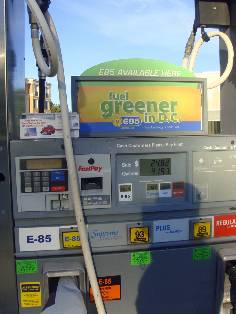 E85 Gas Stations Near Me >> E85 fuel pump at Washington DC - Metro Energy Center